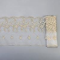 Cinta de encaje bordada de tela para costura, diseño floral de crochet