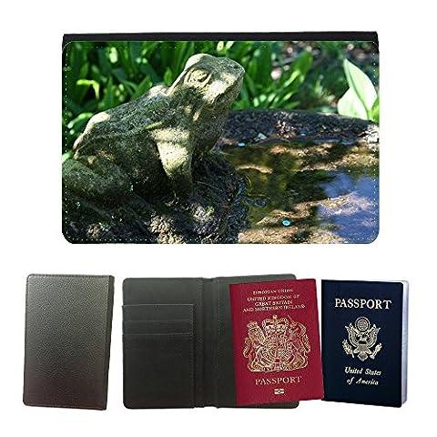 hello-mobile Muster PU Passdecke Inhaber // M00137291 Vogel Bad Garten Frosch Dekoration // Universal passport leather cover