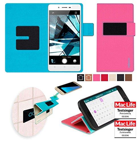 reboon Hülle für Oppo Mirror 5s Tasche Cover Case Bumper | Pink | Testsieger