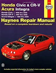 Honda Civic 1996-2000, Honda CR-V 1997-2000 & Acura Integra 1994-2000 (Haynes Automotive Repair Manual) by Larry Warren (2001-01-15)
