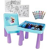 Preisvergleich für Unbekannt Set: Tisch & Stuhl - Incl. Malvorlagen + Stifte - Disney die Eiskönigin - Fr..