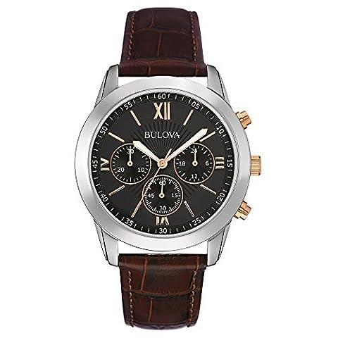 Bulova Herren-Armbanduhr Promo Line Analog Quarz Leder 98A142