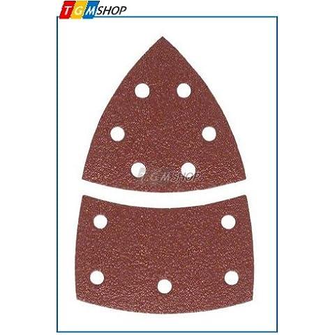 KWB, 4961-08, Bastone rapida rettifica triangoli, legno e metallo, autoadesiva, 100 x 62, 93 millimetri, per Delta Sanders Bosch PSM 160 A, Prio, Ventaro, Skil Octo 7208