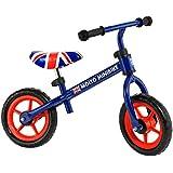 Molto - Bicicleta sin pedales con casco, color azul (16225)