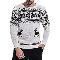 VRTUR Weihnachten Pullover Herren Sweatshirt Gestrickt Oben Gedruckt Outwear Bluse Tops
