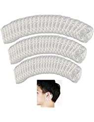 SelfTek 100Pcs Disposable Shower Ear Covers Water Protector Clear