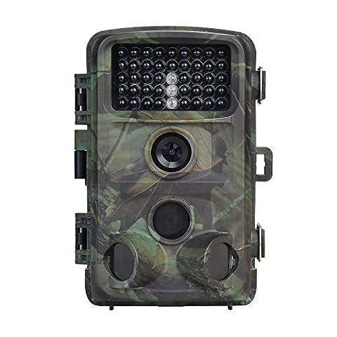 Nicam Caméra de chasse Caméra Trail 1080P 12MP Avec vision nocturne 32G Carte SD Infrarouge Night Vision 2.4