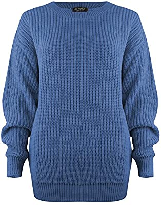SA Fashions Oversized Ladies Womens Chunky Baggy Jumper Knitted Sweater Thick Top S-XL 8-18 : everything 5 pounds (or less!)