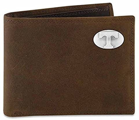 Zep-Pro UTN-IWT1-CRZH-LBR Tennessee Volunteers Concho Emblem Crazyhorse Leather Bi-Fold Passcase Wallet by ZEP-PRO