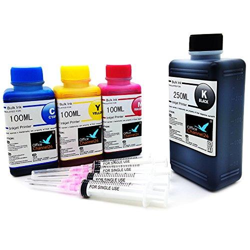 550ml Nachfülltinte Drucker Tinte kompatible für HP301 HP301XL Deskjet 1010 1510 HP Officejet 4636 2622 4630 4632 5530 e-All-in-One Officejet 2620
