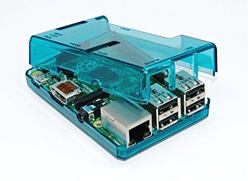 SB Components Blue Transparent Case for Raspberry Pi Model B+