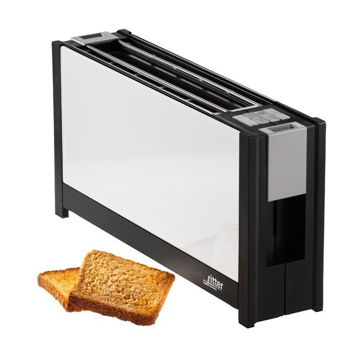 ritter toaster volcano 5 mit eleganten glasfronten in wei. Black Bedroom Furniture Sets. Home Design Ideas