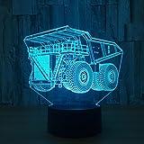 OOFAY LIGHT® 3D LED Nachtlicht Lampe LKW Optical Illusion Touch 7 Farbe Ersatz Acrylplatte, ABS Kunststoff Basis, USB Ladegerät Schreibtisch Tisch Schlafzimmer Dekor Lichter