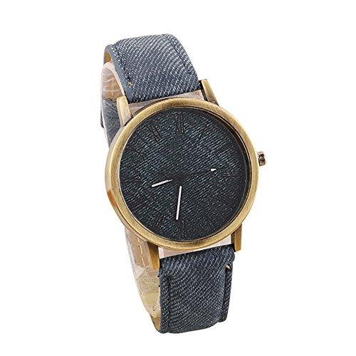 IG-Invictus Liebhaber Quarz Analog Handgelenk Delicate Watch Business-Uhren CO Männer und Frauen Paar Uhren römische Waagen Denim Gürtel Punk Uhren grau