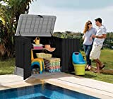 Keter 12-662011 Chalet Jardin Coffre Multifonctions 845L Ant, Anthracite, 130 x 74 x 110 cm