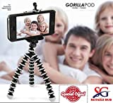 #10: Gorilla Tripod Stand for Phone and Camera Flexible Octopus Foldable Mini Tripod For Mobile Phone With Universal Mobile Monopod Mount Adapter,(White & Black)