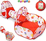 Tienda Campaña Infantil : Piscina de Bolas + Casita Infantil + Tunel Infantil: Plegable Parque Bebe Bolas Infantil Jardín Exterior Interior Juguetes Niños Niñas Bebes Casitas Tela Tipi Pop Up Tent