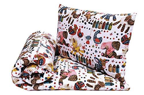 Babybett Bettwäsche Bettbezug und Kissenbezug Set 100x135, fur Baby und Kinder, 100% Baumwolle Hergestellt in Europa (Spielzeuge)