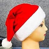 BonTime 1pc Buon Natale Morbido Morbido Peluche Cappello di Babbo Natale Xmas Festa Fancy Dress Hat Celebration Party