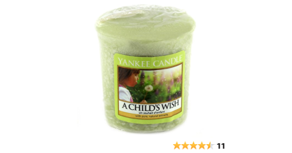 YANKEE CANDLE Samplers Candele Votive A Childs Wish Cera 4.6x4.5x5.3 cm Verde