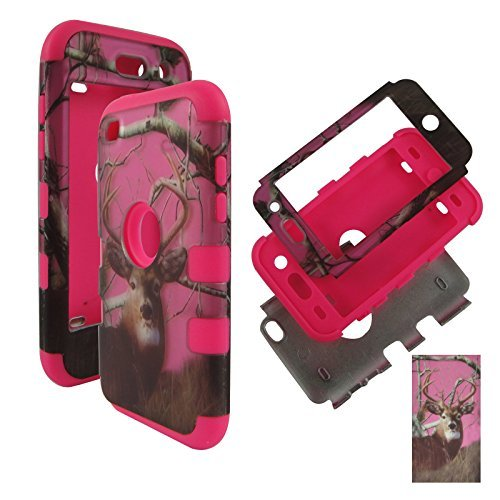 HYBRID 3in 1PK Pink Camo Deer Kiefer Apple Touch 4, iPod Touch 44. Generation Tuff Combo Rugged Body Armor Defender Triple Layer stoßfest Fall Hard Phone Sony Tuff Combo Rugged Body Armor Defender Triple Layer stoßfest Case Cover Gummiert Touch Blenden