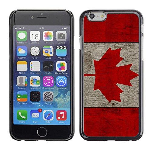 Graphic4You Vintage Uralt Holz Kanada Kanadisch Flagge Design Harte Hülle Case Tasche Schutzhülle für Apple iPhone 6 Plus / 6S Plus Design #6