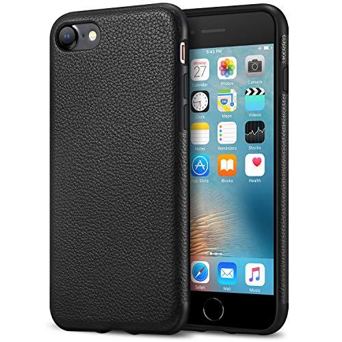 Tasikar iPhone 7custodia iPhone 8case Slim custodia Premium in pelle PU e custodia protettiva in TPU per iPhone 7e iPhone 8(nero)