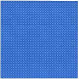 "IDream® Building Block Base Plate 10"" X 10"" - Compatible With All Major Brands (Blue)"
