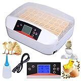 Zerone Automatischer Inkubator, 32 Eier Inkubator Hatcher Maschine Digitale Temperaturregelung Automatische Drehen Eu-stecker 220 V (Eingebaute Beleuchtung)