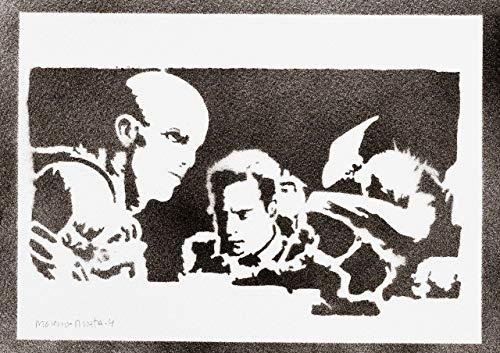 Alien Covenant Poster Plakat Handmade Graffiti Street Art - - Kostüm Aliens Vs Predator