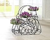 Design Blumentreppe in Taschenform, aus Metall