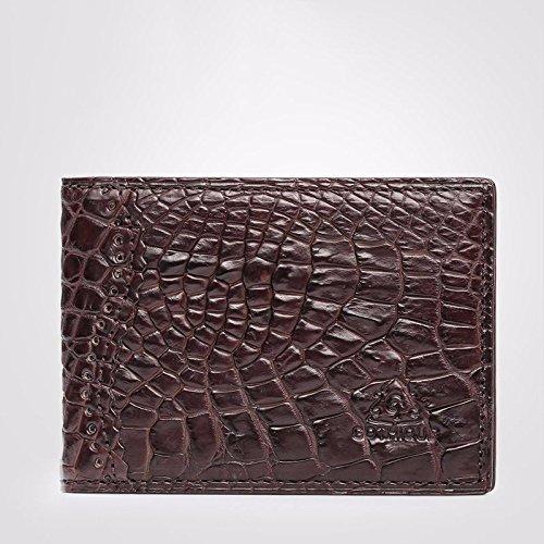 lpkone-Motif peau de crocodile cuir titulaire du permis de conduire Conduire jeux de cartes en cuir Brown