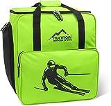 Skischuhtasche mit separatem Helmfach und Rucksackfunktion 'Alpine Depo' Farbe Limette