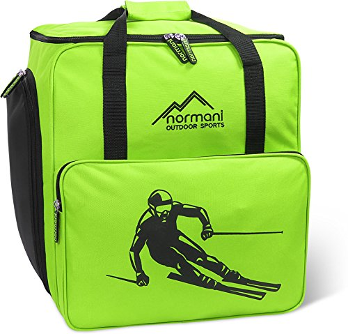normani Skischuhtasche mit separatem Helmfach und Rucksackfunktion Alpine DEPO Farbe Limette