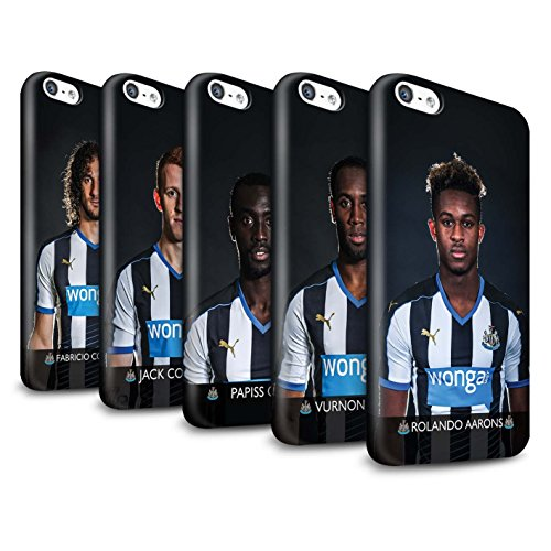 Offiziell Newcastle United FC Hülle / Glanz Snap-On Case für Apple iPhone 5C / Pack 25pcs Muster / NUFC Fussballspieler 15/16 Kollektion Pack 25pcs