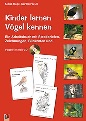 Kinder lernen Vögel kennen: Ein Arbeitsbuch mit Steckbriefen, Zeichnungen, Bildkarten und - Vögel Zeichnung