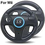 LS 2x Lenkrad Racing Wheel für Nintendo Wii - schwarz