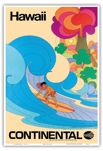 hawai-continental-airlines-surfer-hawaien-psychedelique-de-flower-power-art-vintage-hawaiian-travel-