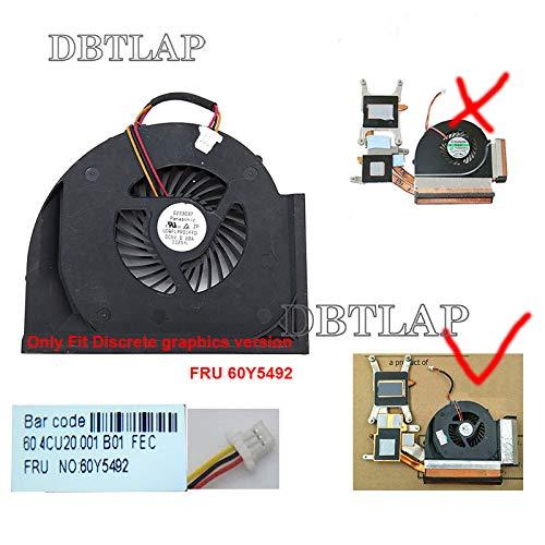 DBTLAP Laptop CPU Lüfter FÜR Lenovo Thinkpad T510 T510i FRU 60Y5492 UDQFLPR01FFD Laptop Lüfter Discrete Graphics (Thinkpad T510-lüfter)