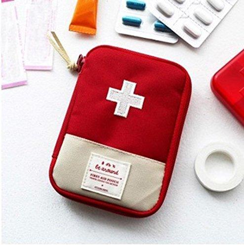 Rameng Tasche medizinisches Notfall, Federmäppchen Erste-Hilfe-Rucksack Taktik für Reisen, rot, Medizinische Notfalltasche Erste-Hilfe-Rucksack für Reisen L/S