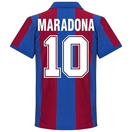 80-81 Barcelona Home Retro Trikot + Maradona 10 - XL (Retro Trikot Home)