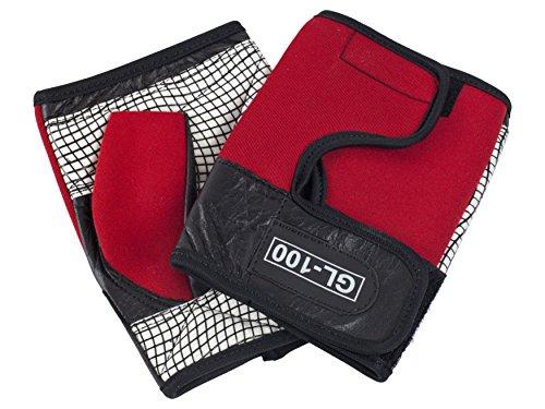 Ability Superstore - Rollstuhlhandschuhe mit rutschfester Handfläche, Größe XL, rot