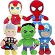 """10"""" Marvel Plush Soft Cuddly Toy Gift Superhero Cozy Toys Xmas 30cm Chunky Kids"""