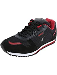 Sparx Men's SM0119 Series Black Red Synthetic Leather Sports Shoes