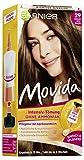 Garnier Tönung Movida Pflege-Creme / Intensiv-Tönung Haarfarbe 29 Kühles Hellbraun (für leuchtende Farben, auch für graues Haar, ohne Ammoniak) 3er Pack Haarcoloration-Set