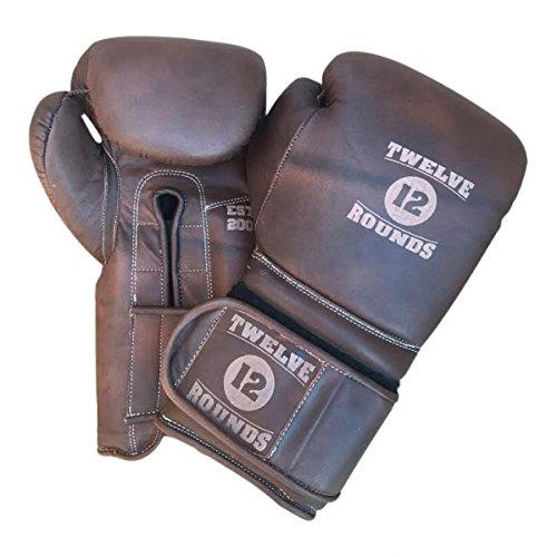 Leder Authentic Vintage Boxhandschuhe von Twelve Rounds (10oz) - Boxhandschuhe Vintage Leder
