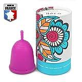 DoctiCup - Coupe Menstruelle - Made in France - Silicone Médical Hypoallergénique - - Cup menstruelle - Cup Avec Pochette De Rangement (Taille L)