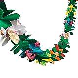 3M Long Hawaii Garland Flower Leaves Banner multicolor de papel multicolor para decoraciones de fiesta, cumpleaños, suministros para eventos, festivales, niños y adultos