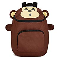 Childrens Monkey Backpack- Available in Lots of Cute Animals - for Ages 3-7- Animal School Bags by Zappi Co (Monkey)