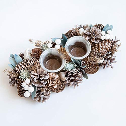 ihnachtsschmuck Aus Holz Kiefer Kegel Kerzenhalter Teelichthalter Parteien, Weihnachten Und Home Decor,Als Zeigen,Einheitsgröße ()